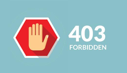 Fixing 403 Forbidden error in WordPress