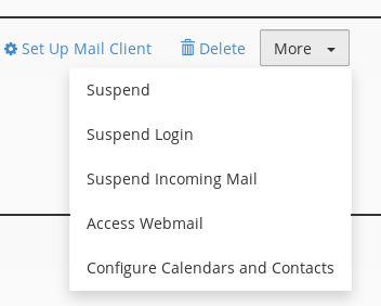 cPanel Email - Action Menu|352x282