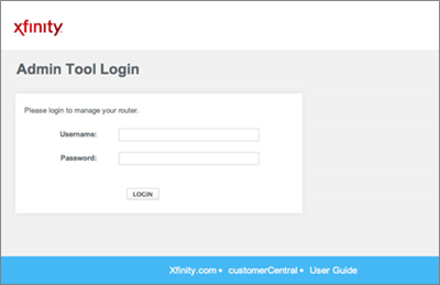 Admin Tool Login Screen with Username and Password fields in the middle and Login button at the bottom.